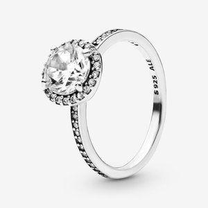 🍓Pandora Round Sparkle Halo Ring